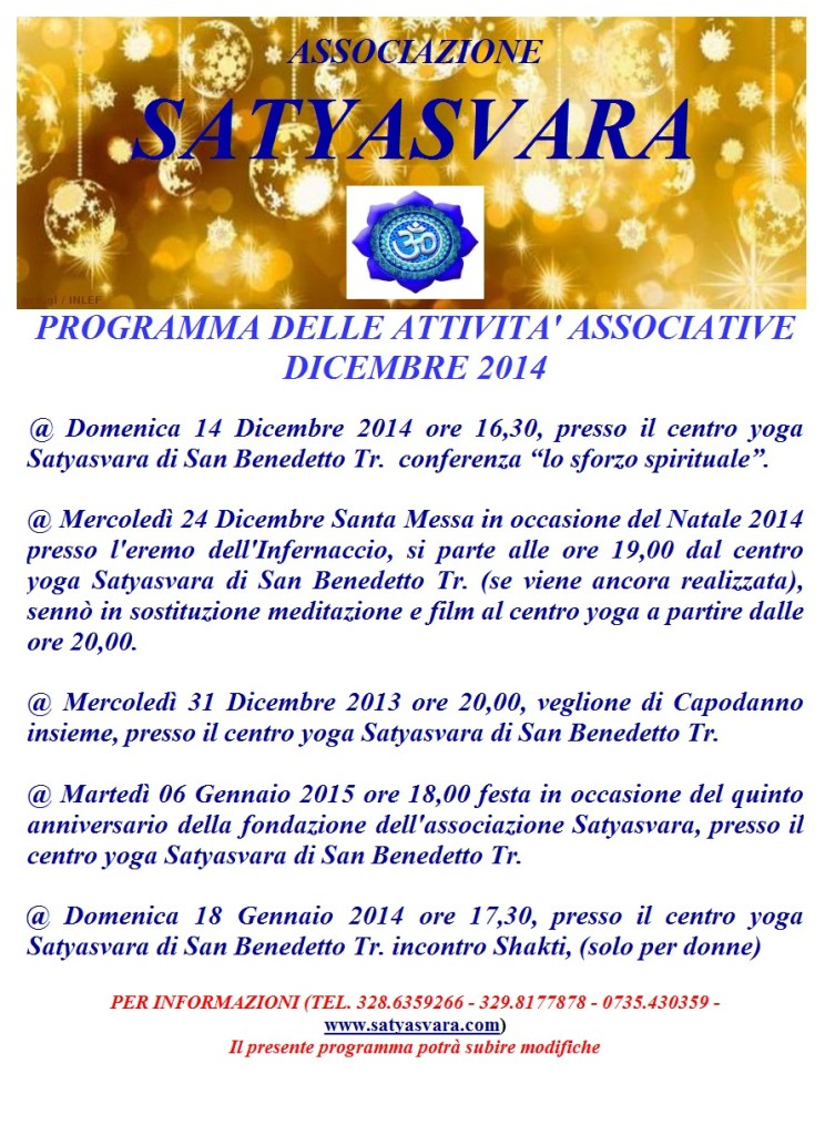programma natale 2014